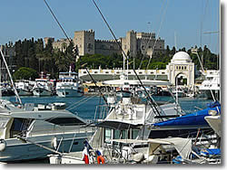 Rhodes island sailing boat charter base in Dodecanese