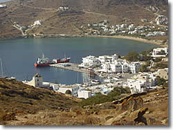 the port of Ios island