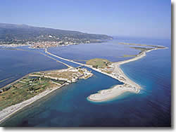 Lefkas island in the Ionian Sea