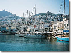 Syros island at Cyclades, the Ermoupolis port