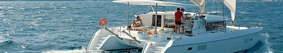 rent a catamaran in Greece